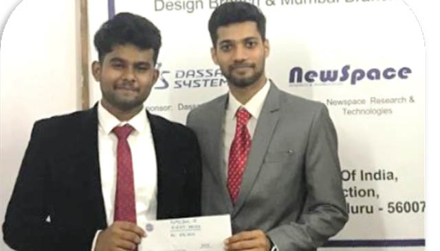 Ashley and Anish of MIT bag first prize for UAV design