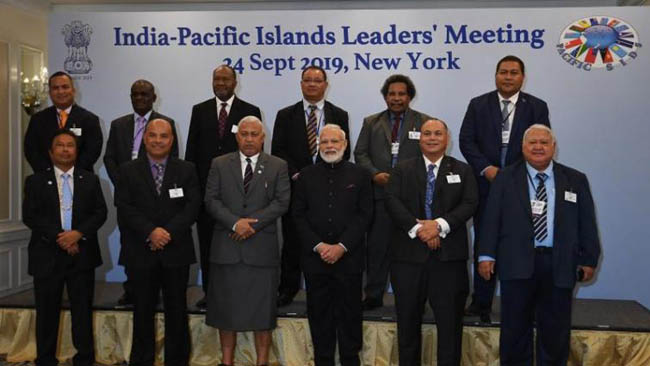 pm-modi-meets-with-leaders-of-pacific-island-countries-in-ny