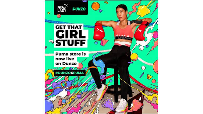 Dunzo Teams up With PUMA on Instant Deliveries for the 'Propah Lady' Campaign