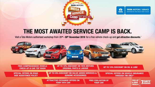 Tata Motors nationwide service camp offers comprehensive vehicle health checkups