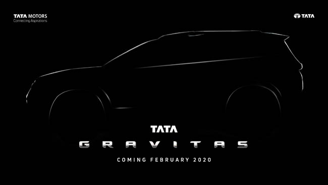 Tata Motors christens its upcoming flagship SUV- Tata Gravitas, set for launch in February 2020