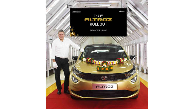 Tata Motors rolls out the 1st ALTROZ from its Pune plant