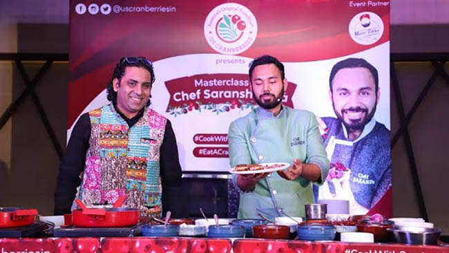 US Cranberries Organizes Masterclass with Chef Saransh Goila
