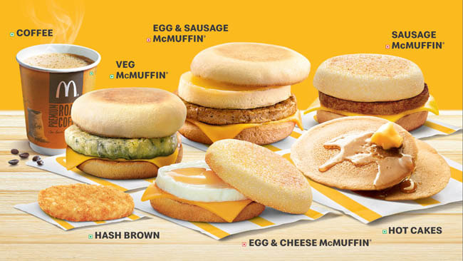 McDonald's launches its popular breakfast across restaurants in North and East of India