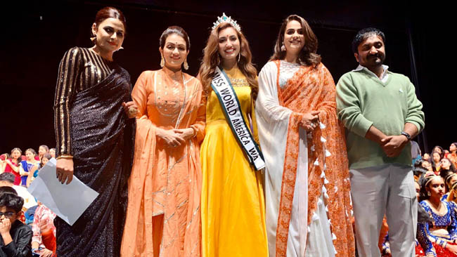 Miss World America Washington Shree Saini emceed east coast's largest dance show, which has had over 18,000 performers, in the course of 36 years