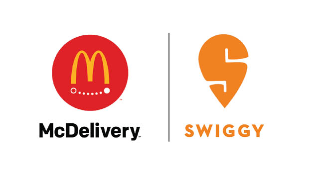 McDonald's India partnered with Swiggy for delivery