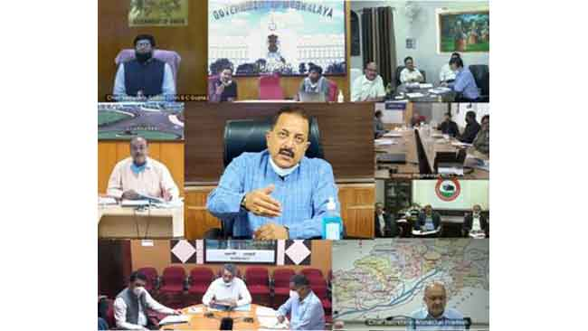 Union Minister Dr Jitendra Singh discusses COVID follow up with Chief Secretaries and senior officers of the eight States of the North East