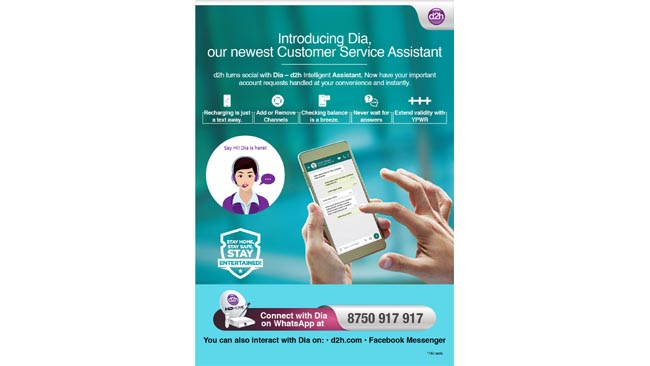 D2H launches DIA, an AI-enabled chatbot for customer service