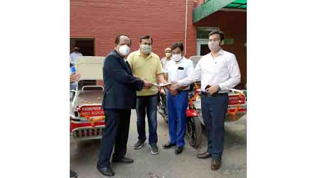 HERO DONATES FIRST RESPONDER VEHICLES TO CIVIL HOSPITAL, GURUGRAM