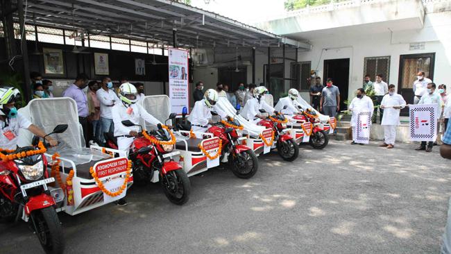 HERO DONATES FIRST RESPONDER VEHICLES TO THE HEALTH AUTHORITIES IN JAIPUR