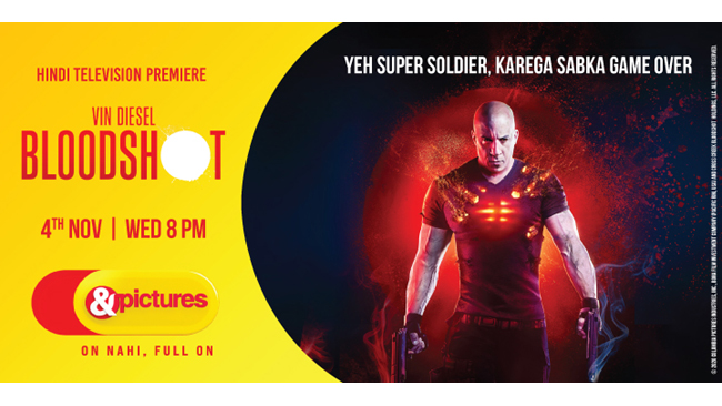 Ab hoga enemy ka game over as 'Bloodshot' is here! Catch the Hindi Television Premiere of Vin Diesel's full on action entertainer on &pictures