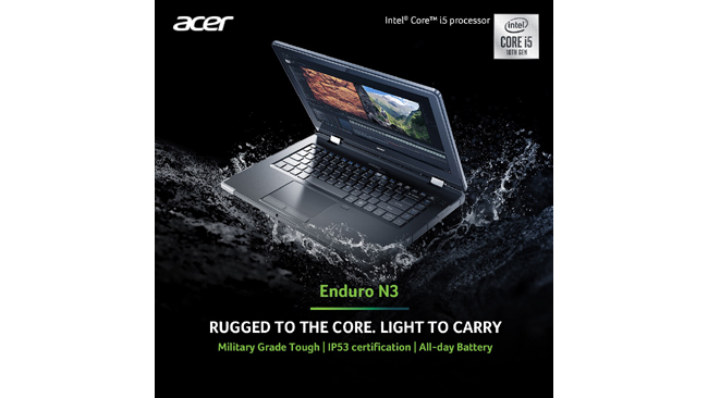 Acer launches Enduro N3 rugged laptop in India for intense workloads