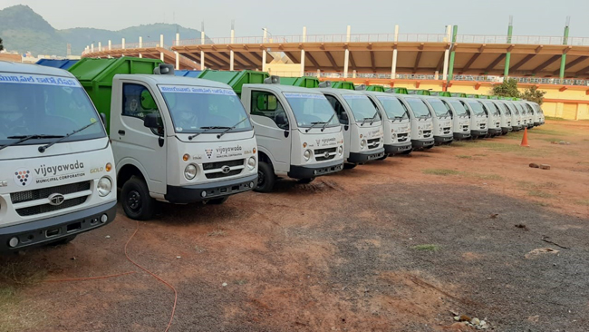 Tata Motors supports Vijayawada Municipal Corporation's mission for clean-fuel vehicles, delivers 25 Ace CNG models