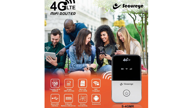 Mifi router S-4GMR, which can connect 10 devices at once, launched by Secureye in India