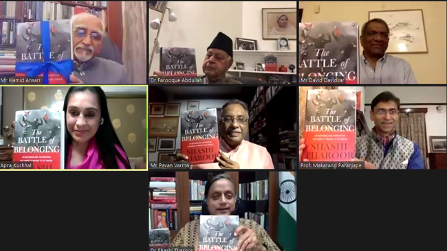 """Kitab launches Shashi Tharoor's book """"The Battle of Belonging"""""""