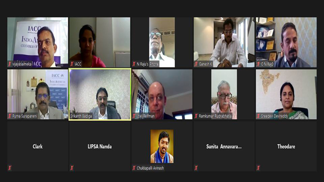 IACC AP & TS Leadership virtually interacts with Joel Reifman, Consul General, US Consulate Hyderabad