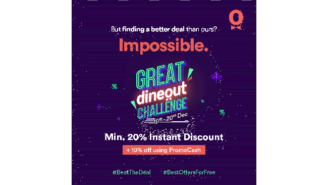 Dineout goes bold with an open challenge of #BestOffersForFree with the Great Dineout Challenge!