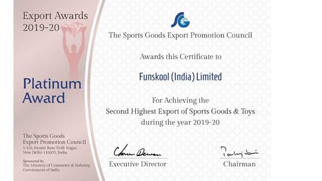 funskool-india-awarded-for-outstanding-performance-in-export-of-sports-goods-and-toys-in-2019-20