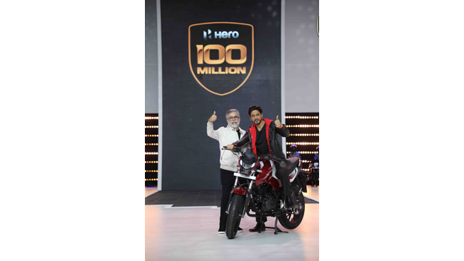 HERO MOTOCORP SURPASSES THE MONUMENTAL 100 MILLION CUMULATIVE PRODUCTION MILESTONE