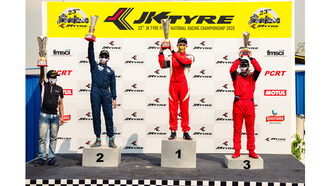 AMIR SAYED & ASHWIN DATTA DOMINATE IN THE FINAL ROUND OF THE JK TYRE FMSCI NATIONAL RACING CHAMPIONSHIP