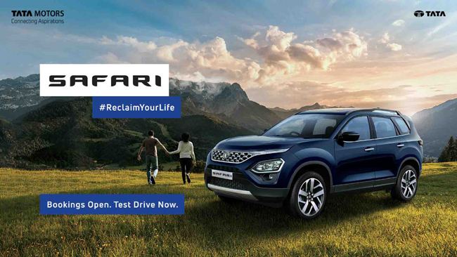 Tata Motors commences bookings for its flagship SUV - The all-new Safari at INR 30,000 from today
