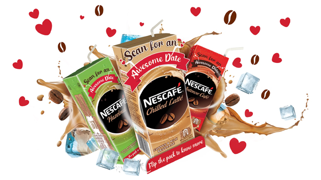 This Valentine' Day, experience the first ever Augmented Reality experience on NESCAFÉ Ready to Drink Cold Coffee packs