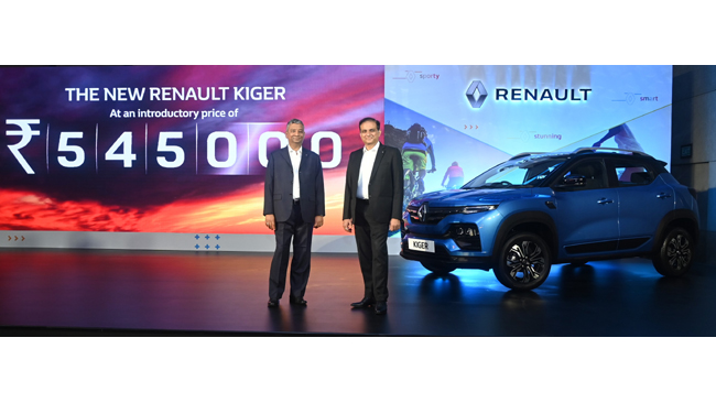 UNMATCHED VALUE: THE ALL NEW RENAULT KIGER STARTS AT INR 5.45 LAKHS; BOOKINGS OPEN TODAY