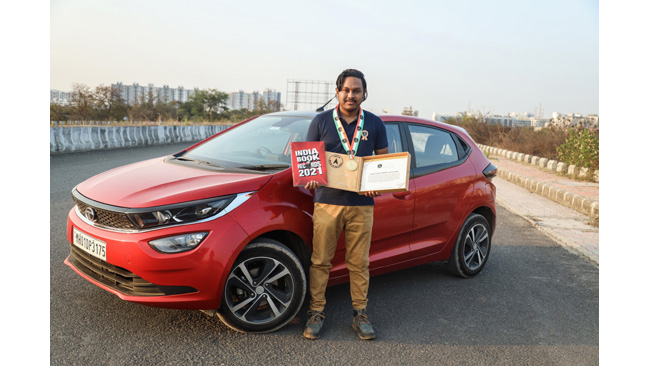 Tata Altroz locks in a landmark entry into the India Book of Records