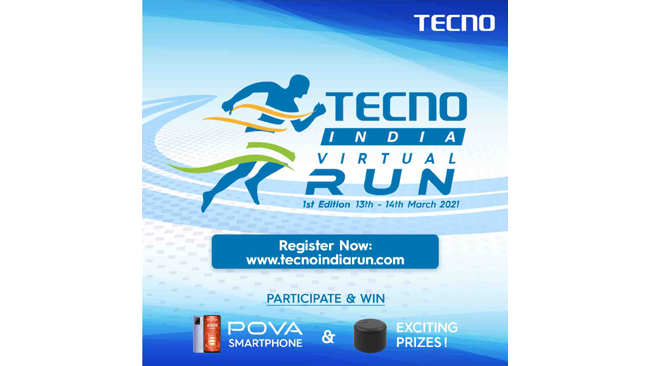 TECNO kick starts 2021 with its brand-connect initiative 'TECNO India VirtualRun' – Registrations open