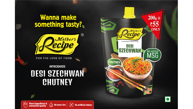 Mother's Recipe introduces its newly launched spout pack Szechwan chutney