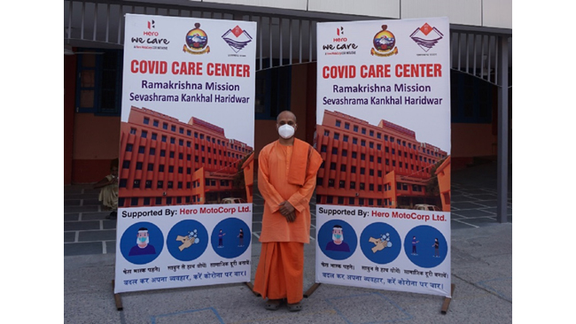 HERO MOTOCORP STEPS UP ITS COVID-19 RELIEF INITIATIVES AT HARIDWAR