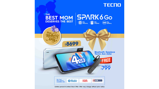 TECNO SPARK 6 Go : Best budget smartphone to gift your Mom this Mother's Day