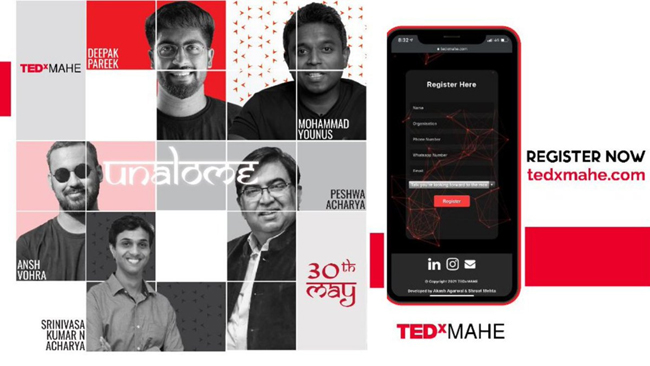 """Manipal Academy of Higher Education is organizing 'TEDxMAHE 5.0 in collaboration with TEDx under the theme – """"Unalome""""."""