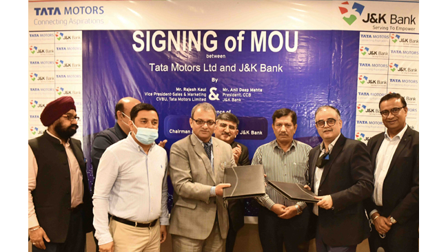 Tata Motors partners with J&K Bank to bring attractive financing options for its customers