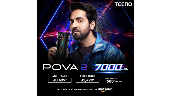 TECNO launches the Incredibly Powerful POVA 2 starting at 10,999
