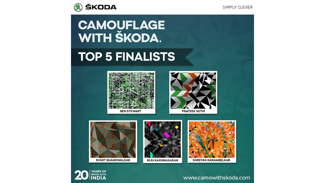 """""""CAMOUFLAGE WITH SKODA"""": SHORTLISTED DESIGNS ANNOUNCED"""