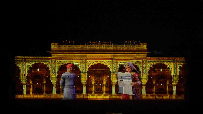 ajmer-smart-city-inaugurates-light-sound-show-on-city-s-history-barco-projection-mapping-tech-on-display