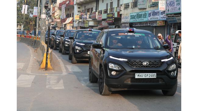 tata-harrier-drives-the-historic-sudarshan-bharat-parikrama-rally-to-varanasi-today