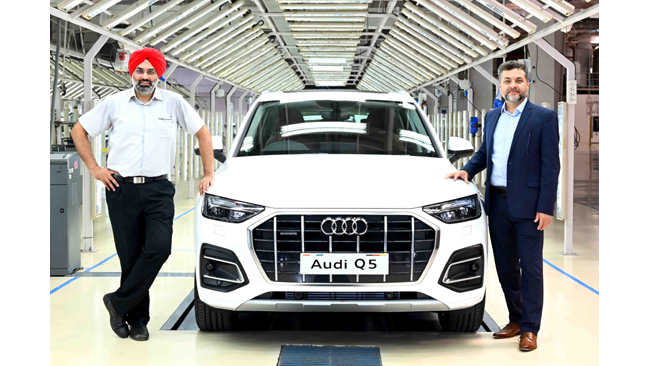 Audi Q5 local production begins at the SAVWIPL plant in Aurangabad